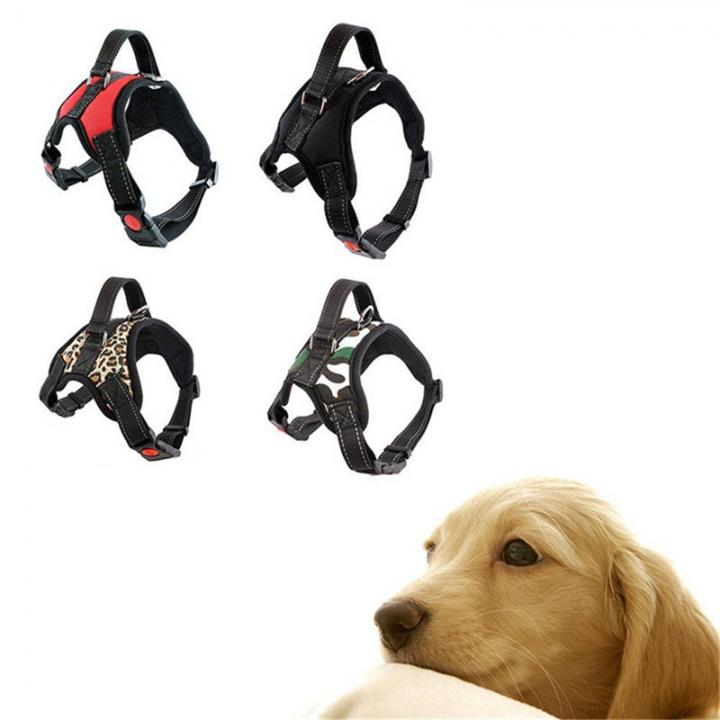 Fashion Dog Soft Adjustable Harness Belt Pet Outdoor Vest Collar Hand Strap Multi-color, S