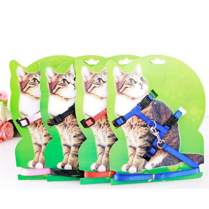Adjustable Pet Leash Puppy Kitten I-shaped Traction Rope Belt for Safety Walking Blue
