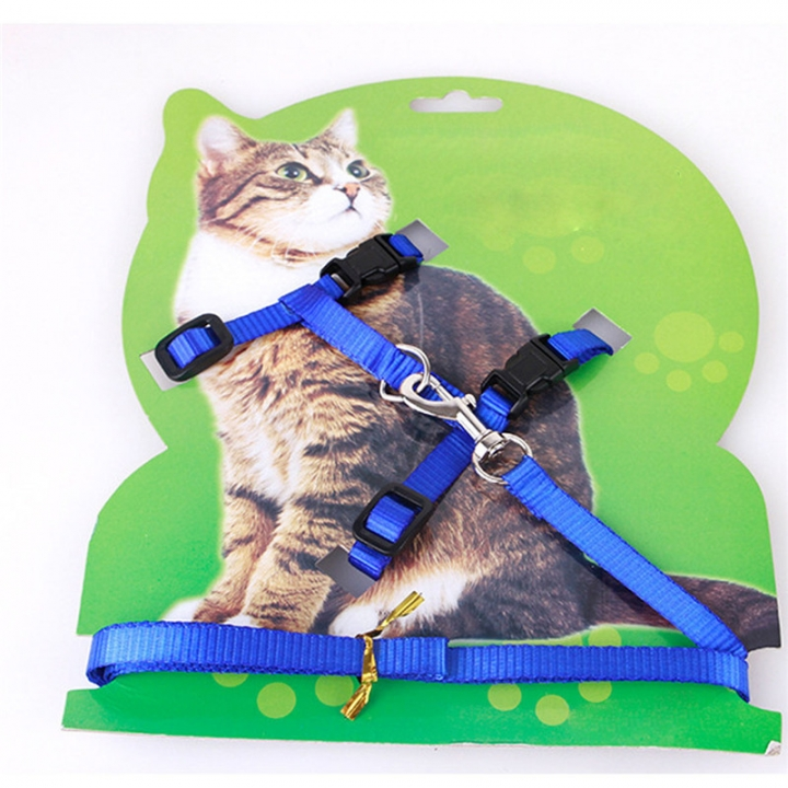 Adjustable Pet Leash Puppy Kitten I-shaped Traction Rope Belt for Safety Walking 2pcs blue