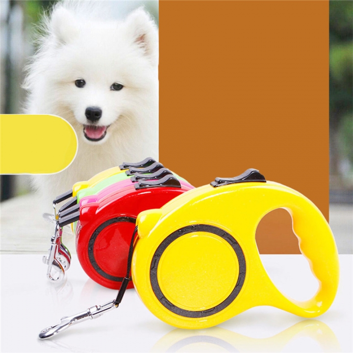 Automatic Telescopic Pet Traction Rope Portable Pet Dog Chain Tractor Dog Rope blue