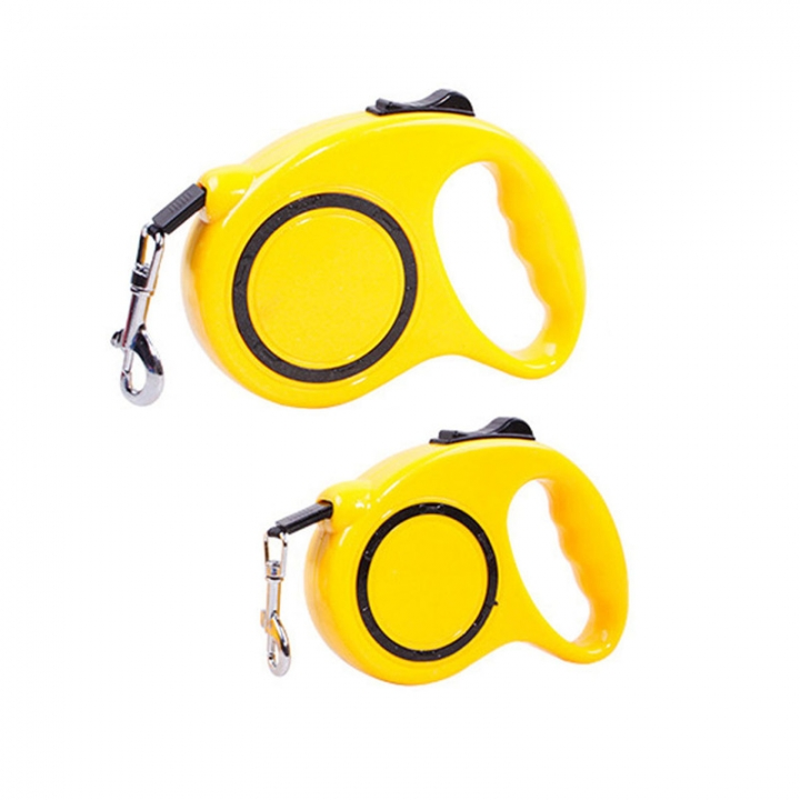 Automatic Telescopic Pet Traction Rope Portable Pet Dog Chain Tractor Dog Rope Yellow