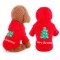 Comfortable Pet Dogs Winter Outdoor Clothes Merry Christmas Puppy Coat Jacket Clothes Costume red,s
