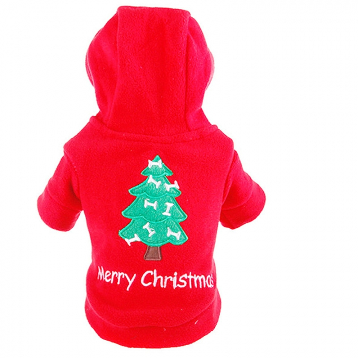Comfortable Pet Dogs Winter Outdoor Clothes Merry Christmas Puppy Coat Jacket Clothes Costume red,m