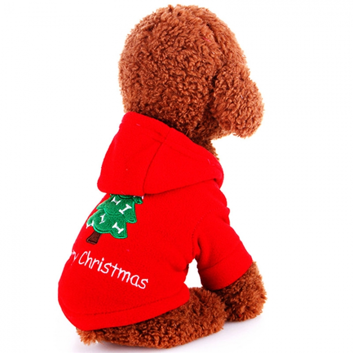 Comfortable Pet Dogs Winter Outdoor Clothes Merry Christmas Puppy Coat Jacket Clothes Costume red,l