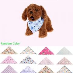 Fashion Adjustable Pet Bib Neck Triangle Scarf Saliva Towel Collar Neckerchief Bandana 1PCS random color