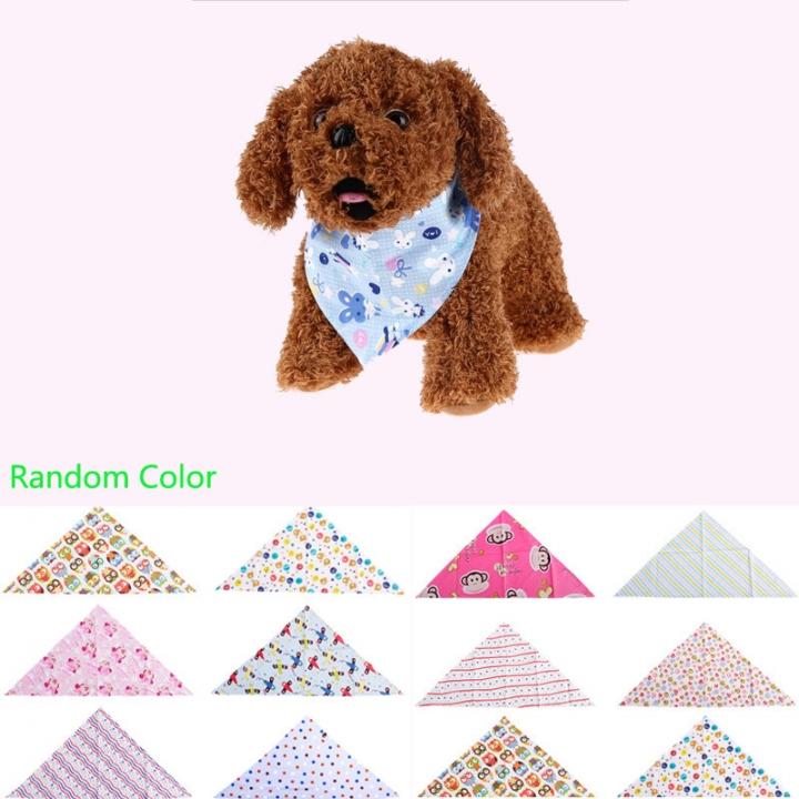 Fashion Adjustable Pet Bib Neck Triangle Scarf Saliva Towel Collar Neckerchief Bandana 1PCS random color