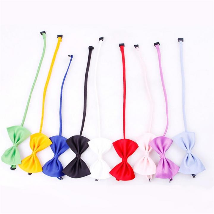 Gentleman Pet Bow Ties Cat/ Dog Tie Adjustable Cat Collar Tie Accessories 2pc Random color 11X7CM