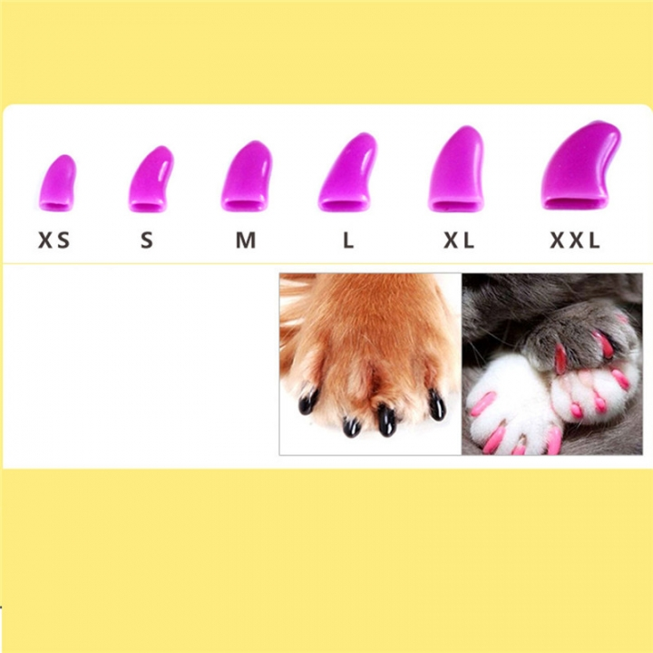 20 Pcs / Set Colorful Pet Nail Sets Catlike Sets Dog Cat Armor Products random color-XXL 99