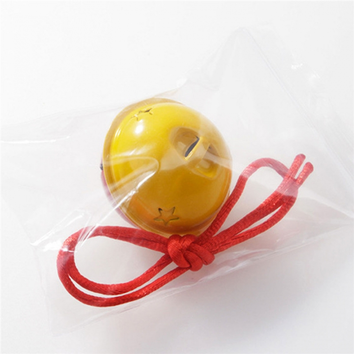 40MM Cute Pet Dog / Cat Maccaron Fight Color Star Empty Bell Pet Supplies Yellow orange Diameter 4cm