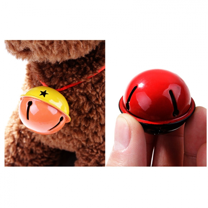 40MM Cute Pet Dog / Cat Maccaron Fight Color Star Empty Bell Pet Supplies Yellow red Diameter 4cm