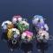 18mm Colorful Flower Hollow Pet Bell Jingle Bells Decoration for Pet 2pc random color diameter 1.8cm