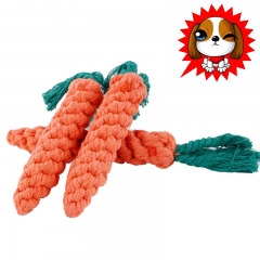 Dog rope chew Toy Cotton Chew Teeth Cleaning Rope Toy for All Pet Dogs 1pc random color 23X2.5CM