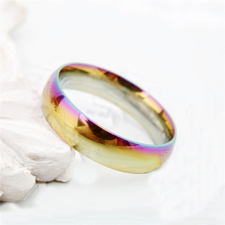 Fashion Colorful Rainbow Cpuple Ring Stainless Steel Wedding Ring Size 5-13 7# no size