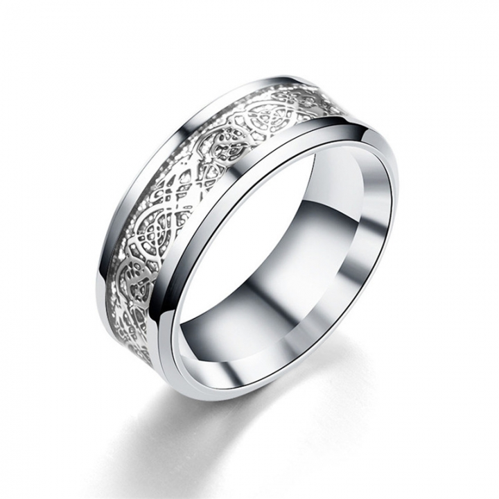 Vintage Four Colors stainless steel Dragon Ring Mens Jewelry for Wedding Band male ring for lovers silver no size