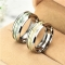 New Fashion Luminous Ring Glow In The Dark Gold Inlay Green Background Silver Men Woman Rings gold one size
