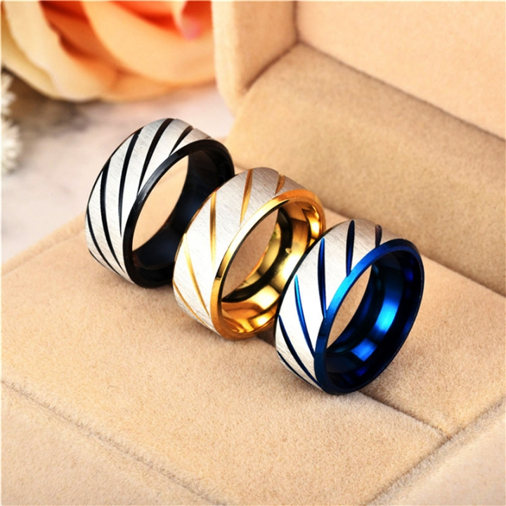 Titanium Band Brushed Wedding Stainless Steel Solid Twill Rings for Men Women gold no size