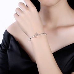 Fashion Women Capricorn Constellation Charm Bracelets Sterling Silver Chain Bracelet Jewelry platinum 26cm