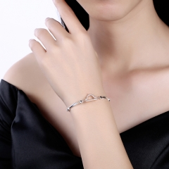 12 Constellation Bracelet 925 Sterling Silver Libra Fashion Trend Bracelet for Women Christmas Gifts platinum 26cm
