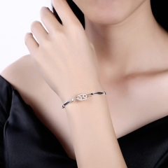 12 Constellation Bracelet Cancer Fashion Trend 925 Sterling Silver Bracelets platinum 26cm