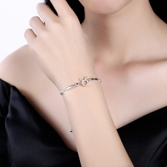 925 Sterling Silver 12 Constellation Bracelet taurus Fashion Trend Bracelets platinum 26cm