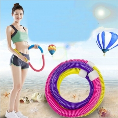 Weighted Sport Spring Soft Hula Hoop for Weight Loss Thin Waist Slimming Random color 140cm