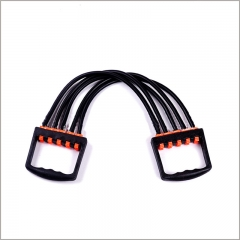 Portable Indoor sports Men Chest Expander Puller Exercise Fitness Resistance Yoga Resistance Bands black 62cm
