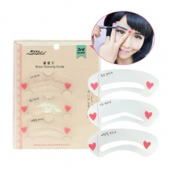 3 in 1 Fashion Easy Magic Eyebrow Shaping Stencils Card Artifact Applicance Guide Aids Thrush Tools as picture
