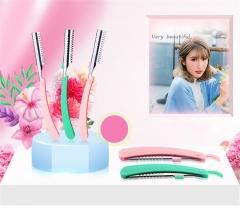 1PCS Eyebrow Facial Hair Razors Multipurpose Folding Eye Brow Shaving Knife with 5 PCS Blades random color
