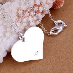 Latest Trendy Classic Jewelry Silver-plated Pendant Simple Heart-shaped Silver Pendants silver(no chain) 2.2*2.5CM