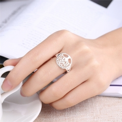 Fashion Trends Tree of Life Classic Rings for Women Parties Accessories silver size 6