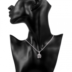 Hot New Style Silver Plated Jewelry Fashion Art Hollow Geometric Lady Necklace Pendant silver 45cm+5cm
