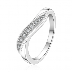 Silver Plated Ring Gemstone Jewelry White Gold Twist Of Fate for Women's & Men Rings silver size 7