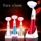 Electric Soft Facial Brush Face Clean Skin Massage Deep Pore Scrubber machine Red