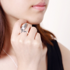 Angel Wings Ring Jewelry Silver Plated Ring Silver Plated Fashion Jewelry silver size 8