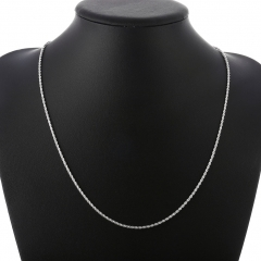 2MM Fashion Silver Color Flash Twisted Rope Necklace 16-24 inch Chains for Jewelry Chains silver 16 inches