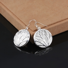 Silver Plated Earring Wedding Jewelry Accessories Fashion Sand Garden Cow Earrings For Women silver 4.4cm x 2.6cm