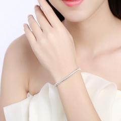 4MM Snake Bone Chain Bracelet & Bangle Clip Snake Chain Bracelet Silver Plated Chain Jewelry silver 20.5cm