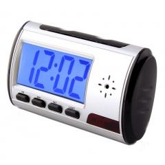 Spy Digital Table Clock Security Hidden Camera MotionDetector DVR black S