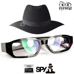 16GB Glasses Camera Spy Hidden Camera-HD720P black S