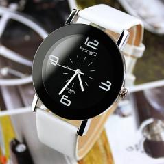 2017 Fashion Ladies Wristwatch Fashionable Unique Leather Watchband Watch Women black one size