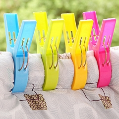 Beach Towel Clips Towel Holder for Beach Chair or Pool Loungers Keep Towel From Blowing Away multicolor 2packs(8picks)