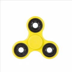 Hand Spinner Triangle Fingertip Gyro Finger Toy for ADD ADHD Relieves Anxiety Stress Boredom Yellow one size