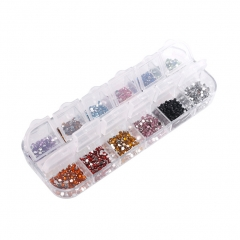 Nail Art Decoration Rhinestones 12 Color Nail Stone 2mm 12 easy