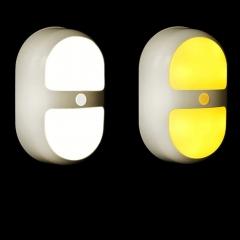 LED Night Light Wireless Motion sensor Adjustable 3 Gears Battery for Rooms Cabinet Wardrobe  Light white one size