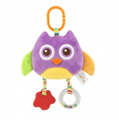 Animal Plush Rattle Handbell Infant Crib Bed Hanger Developmental Toy purple one size
