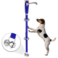 Dog Doorbells Housetraining Doggy Door Bells Adjustable Dog Bell for Potty Training with  Bells blue one size