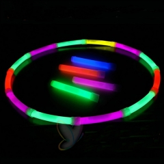 Glow Stick Light Up Toy Glowing in the Dark for Parties Festival Christmas Kids Favorite 6.5 Inch muti-color *12