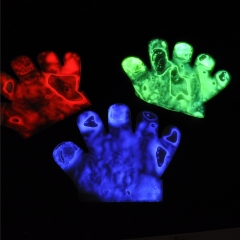 Halloween Glow Glove Cool Light up Toy Colorful Party Favor for Kids Adults muti-color *4