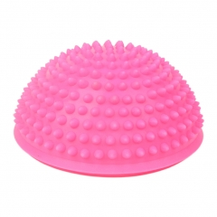 Sports Massage High Density Yoga Spiky Ball Half Round for Kids and Athletics Pink Hemisphere