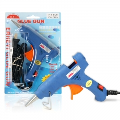 Hot Glue Gun Mini Size for DIY Crafts and Quick Repairs in Home or Office with 10 Glue Sticks random color one size
